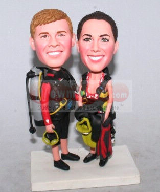 Custom Cake Toppers - scuba gear 1001