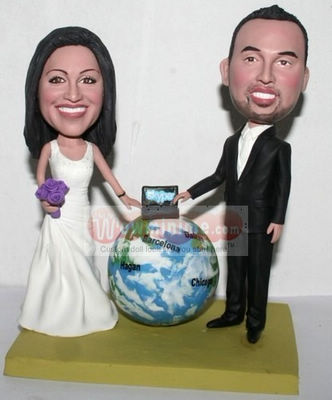 Skype themed custom cake toppers 1129
