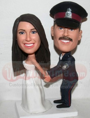 Policeman Groom Wedding Cake Toppers