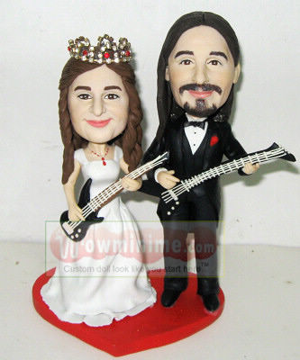custom wedding cake toppers- guitar- 605