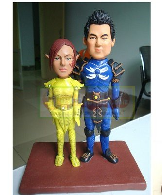 custom game character- wow - cake topper