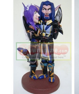 Custom cake toppers- wow character- 637