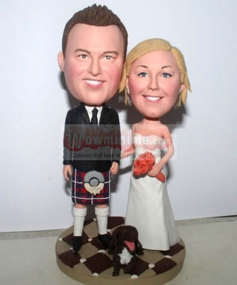 Scottish wedding cake toppers 10750