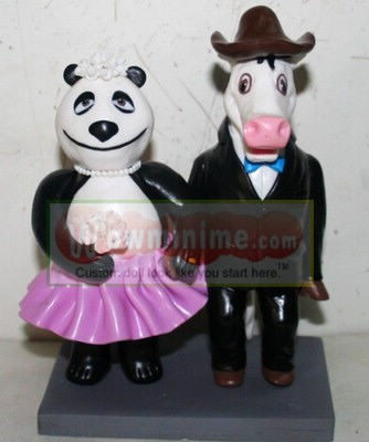 Custom cake toppers - Bear and Horse 10841