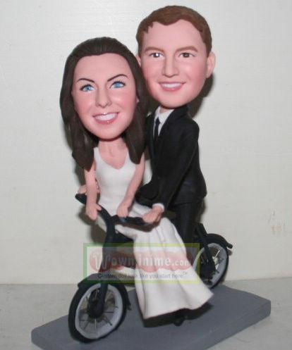 Bicycle theme wedding cake toppers- 10887