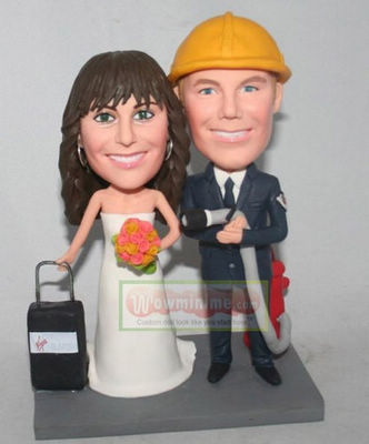 Firemen wedding cake toppers - 10928