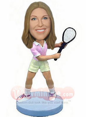 Female tennis figurine