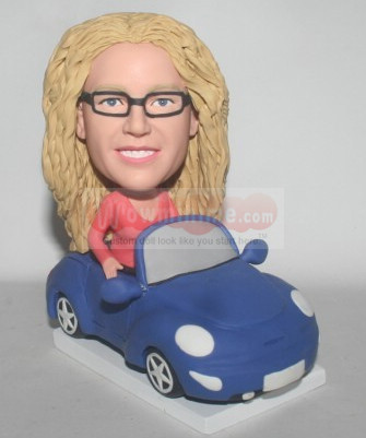 Lady Sitting in car Figurine
