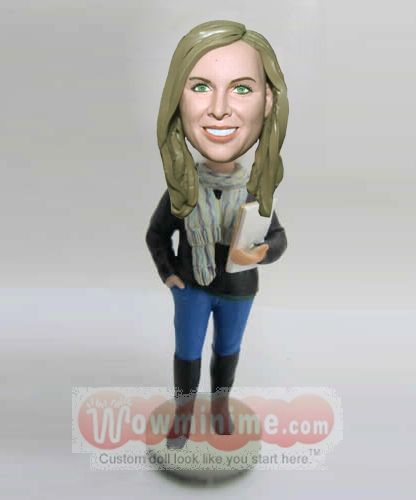 Custom college teacher figurine