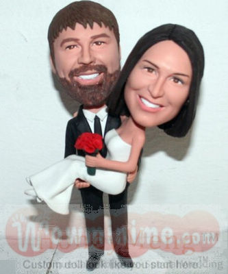 Groom Carried Bride Cake Toppers