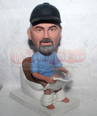 Man on toilet Custom doll