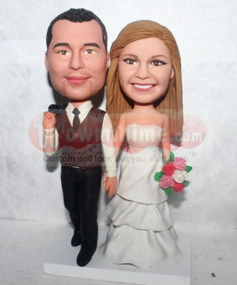 Casual Wedding cake toppers BW60