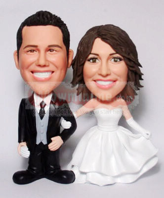 Custom wedding cake toppers BW76