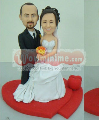 wedding cake toppers Red Heart L16