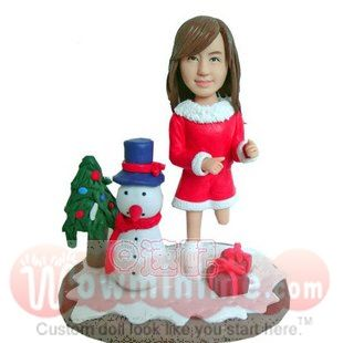 Christmas gift for her- christmas doll- s0234