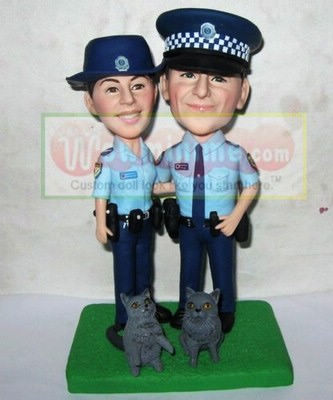 Australia Policeman wedding cake toppers