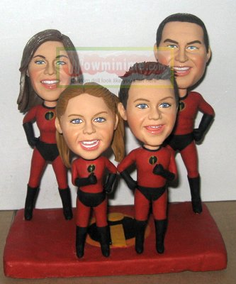 The Incredibles Family custom dolls