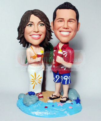 Sea Beach Couple Figurines