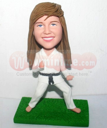 Taekwondo Girl Personalized doll - D-316