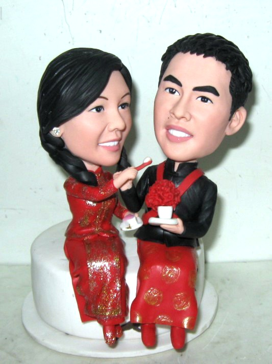 Asian Theme Wedding Cake Toppers