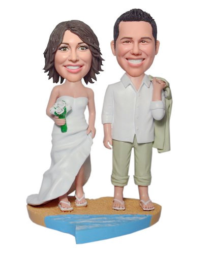 Custon Wedding cake toppers On Beach